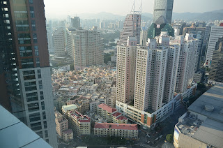 Shenzhen skyline showing 2 different construction phases