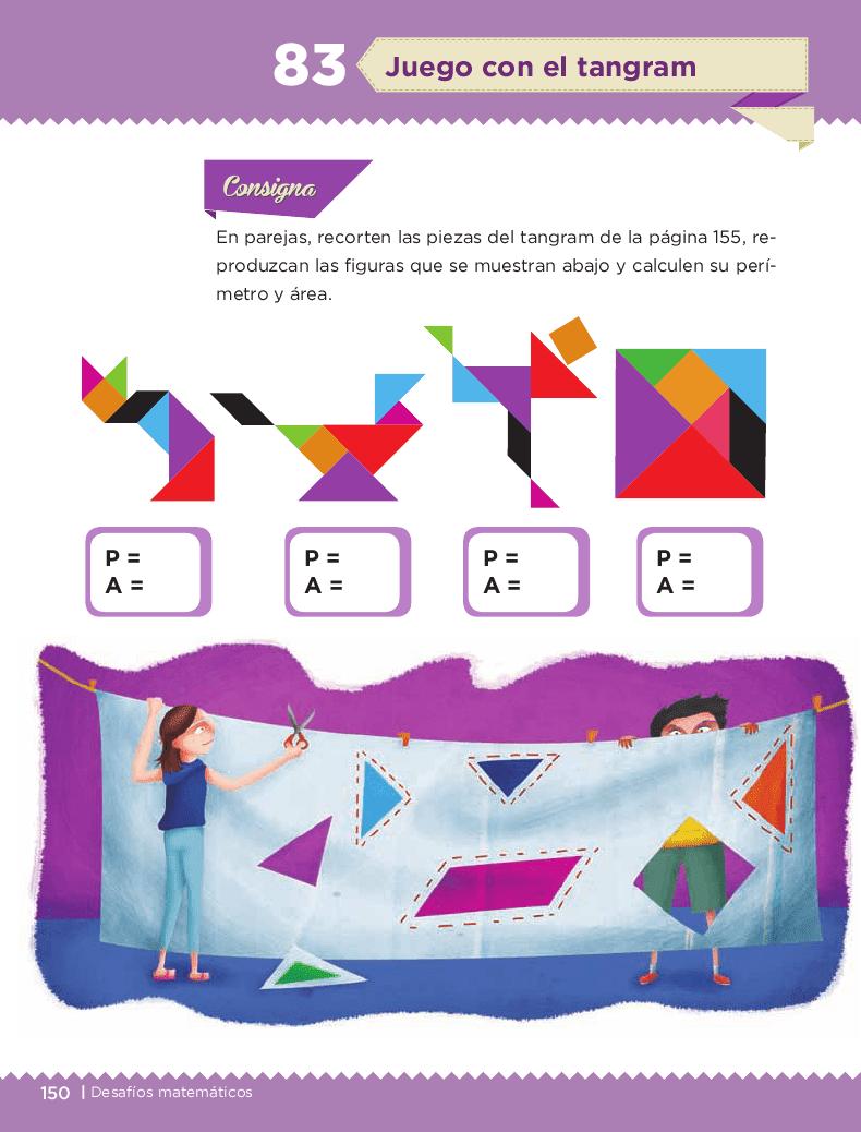 Juego con el tangram - Desafíos matemáticos 6to Bloque 5to 2014-2015