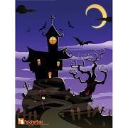 31. Free vector of Halloween hunted Spooky House