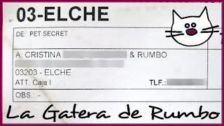 Impreso con los datos de envío de la caja PetSecret