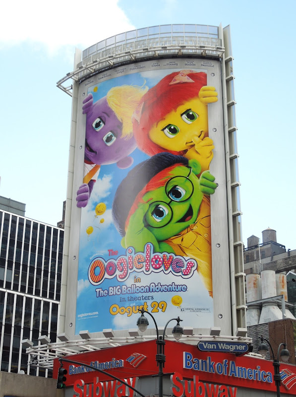 Oogieloves Big Balloon Adventure billboard NYC