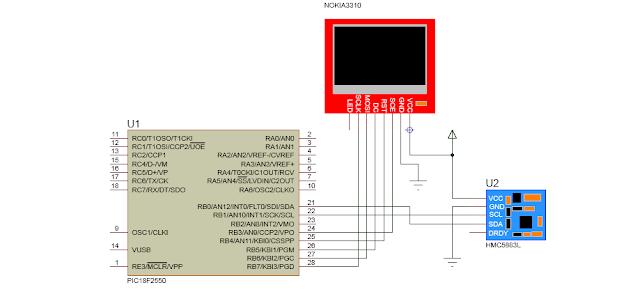 PIC: HMC5883 - Magnetômetro de 3 Eixos