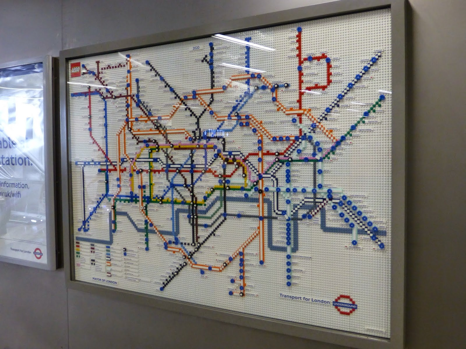 there are 5 lego tube maps that are on display over the summer to celebrate the 150th year of the underground