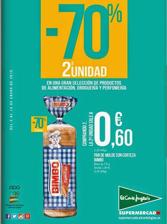 Rebajas Supermercado El Corte Ingles Enero 2015