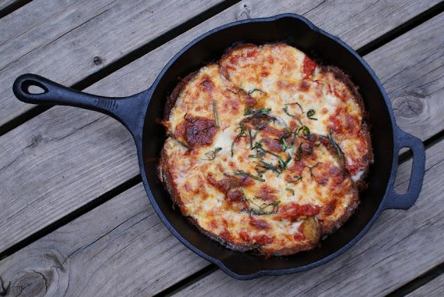 Cast Iron Eggplant Parmesan