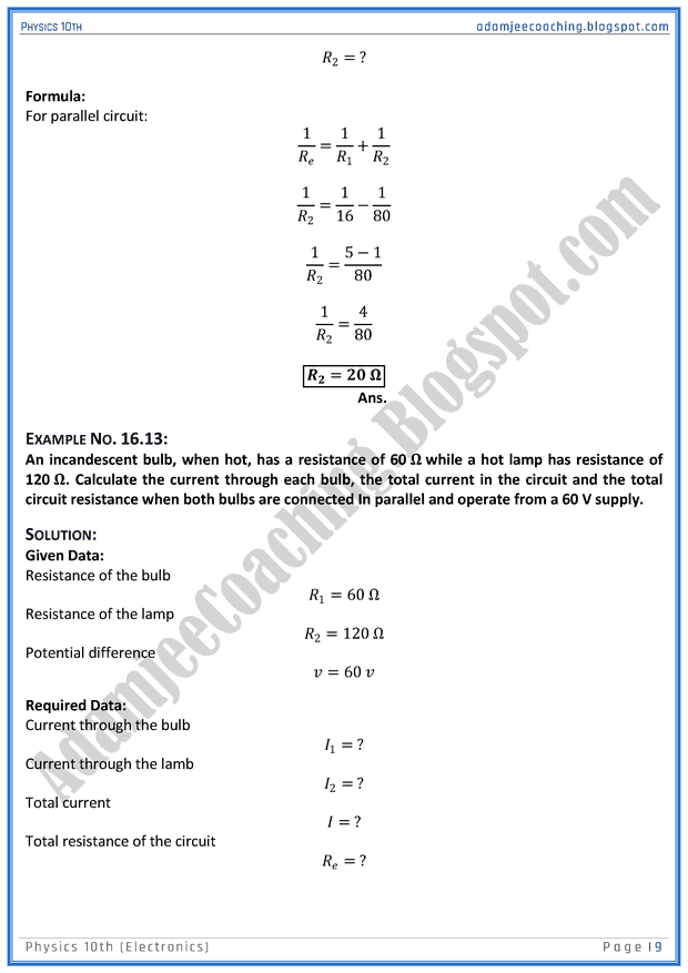electronics-solved-numericals-physics-10th