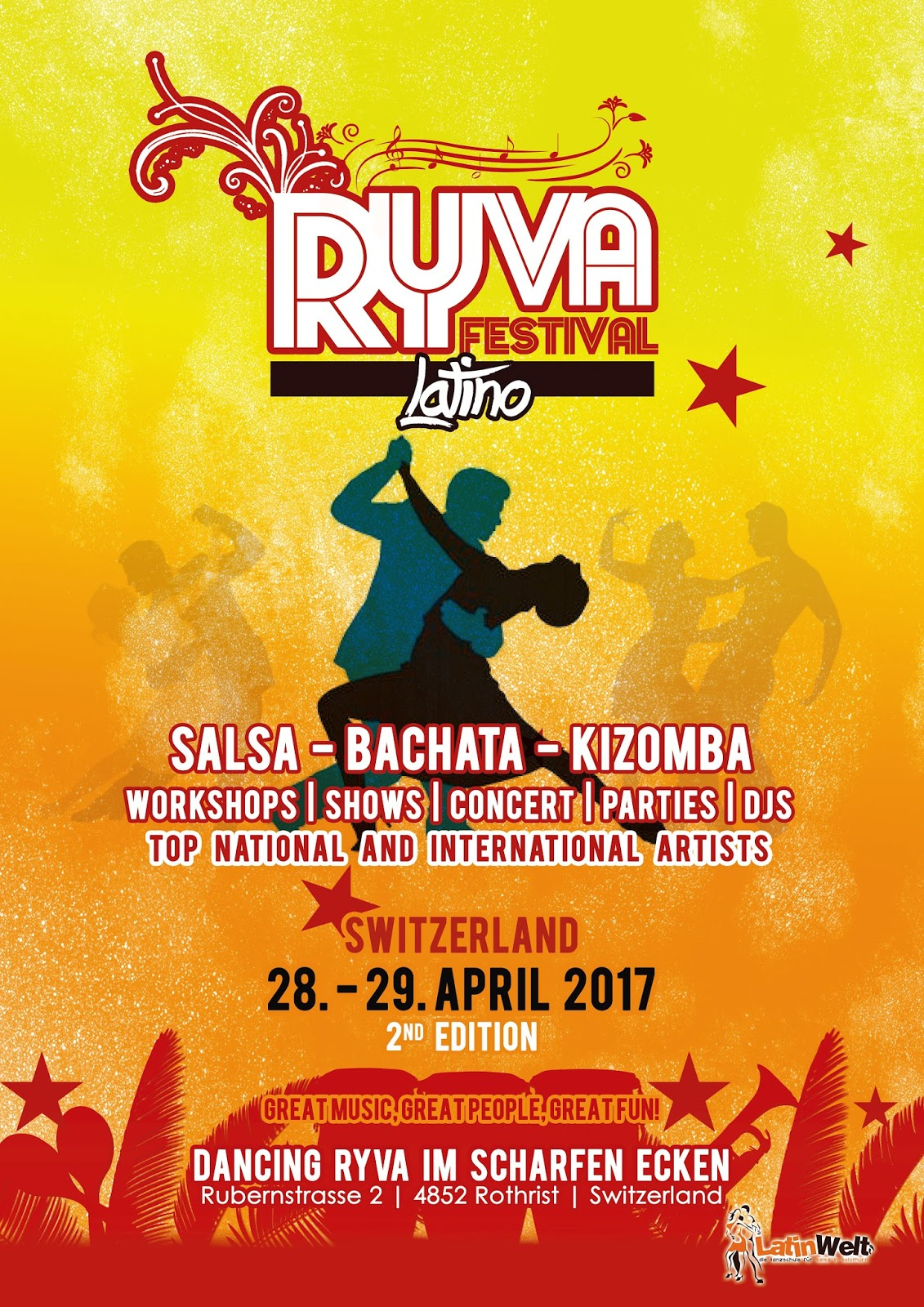 RYVA FESTIVAL LATINO SWITZERLAND APRIL 2017