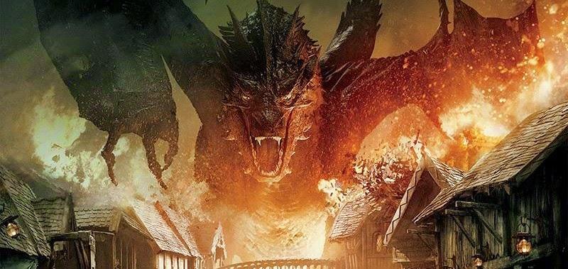 Bard encara Smaug no pôster oficial de O Hobbit: A Batalha dos Cinco Exércitos