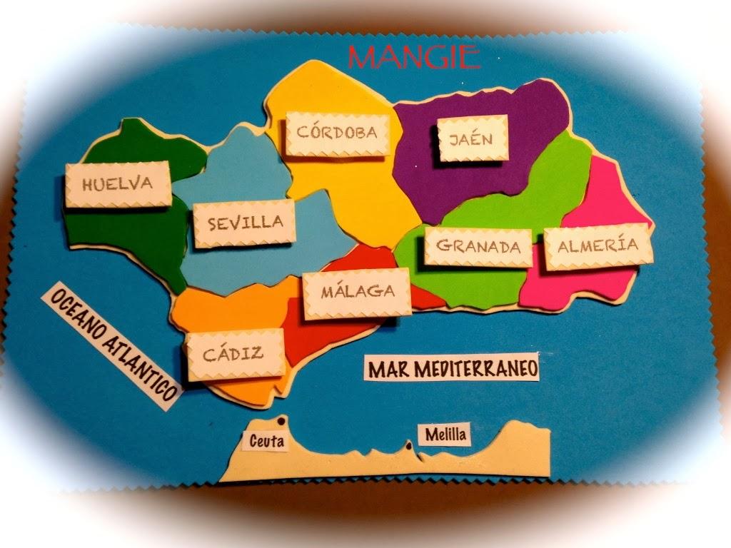 Mapa didáctico Andalucja