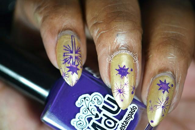 Gold & Purple Stamping