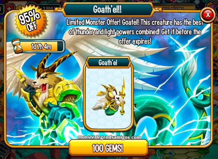 imagen de la oferta especial del monstruo goath'el