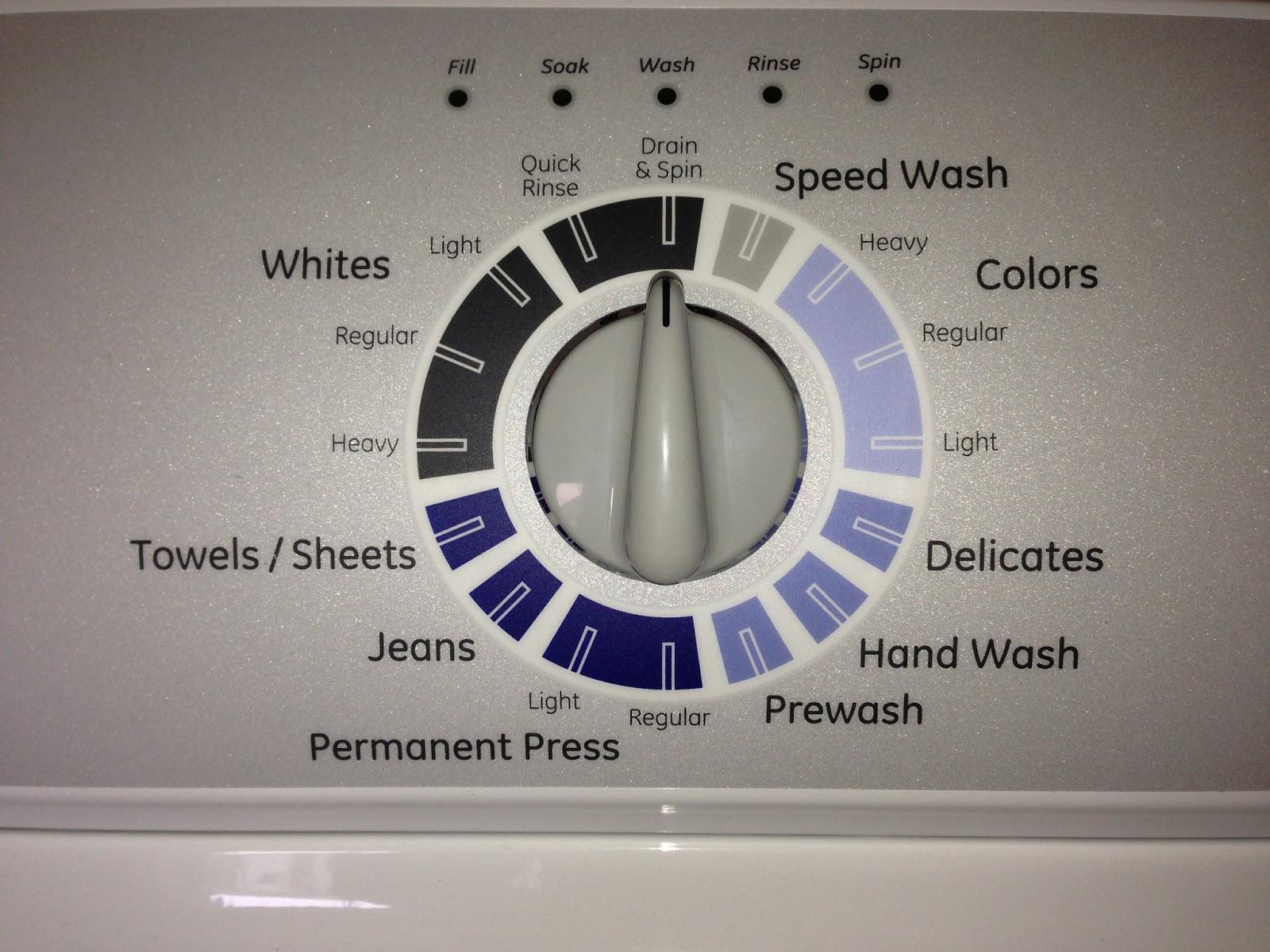 washing machine temperature settings