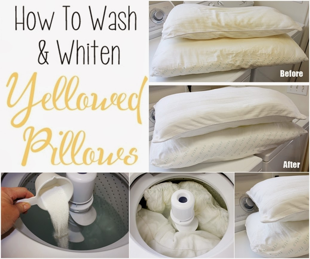 Washing Decorative Bed Pillows : How To Wash And Whiten Yellowed Pillows - DIY Craft Projects