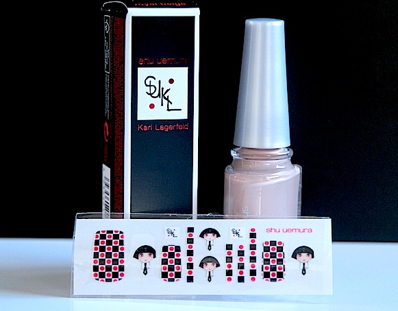 shu uemura karl lagerfeld collection noel 2012 vernis à ongles royal beige swatch avis