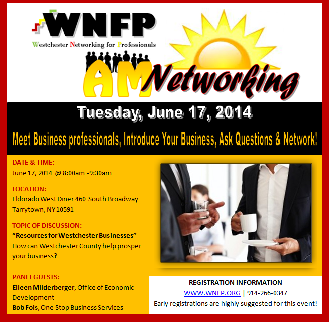 AM Business Networking Breakfast 06/17/14