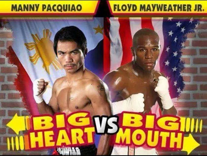 Manny Pacquaio big heart Floyd Mayweather has a big mouth