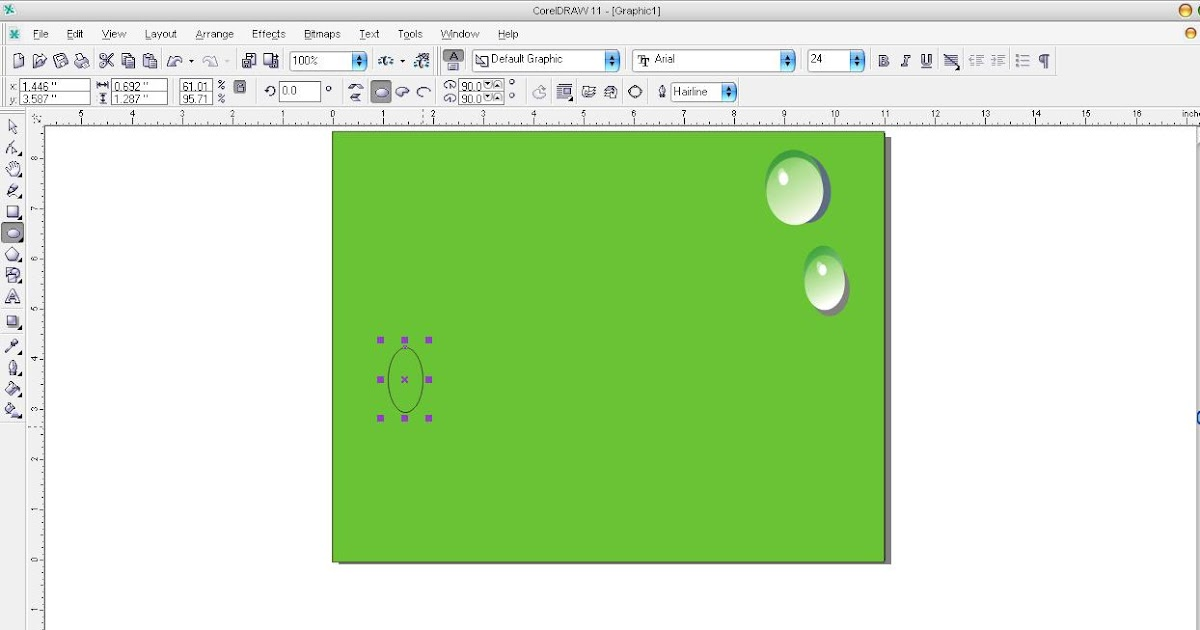 Happy Space: Coreldraw Tutorial: How to Create Water Droplets