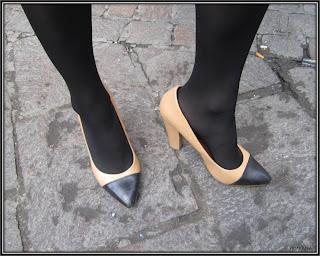 Style de la semaine Amandine Blier escarpins bicolores Zara