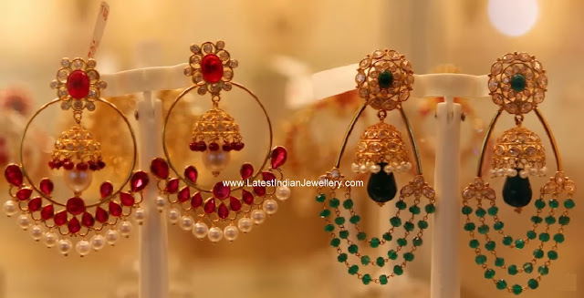 fancy gold chand balis