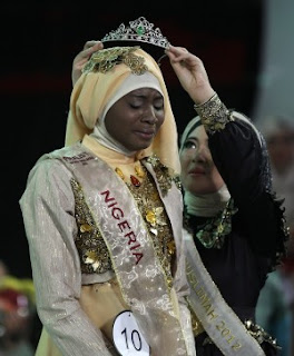 21-Year Old Unilag Student Wins Muslim World Beauty Pageant Muslim-Pageant-300x363