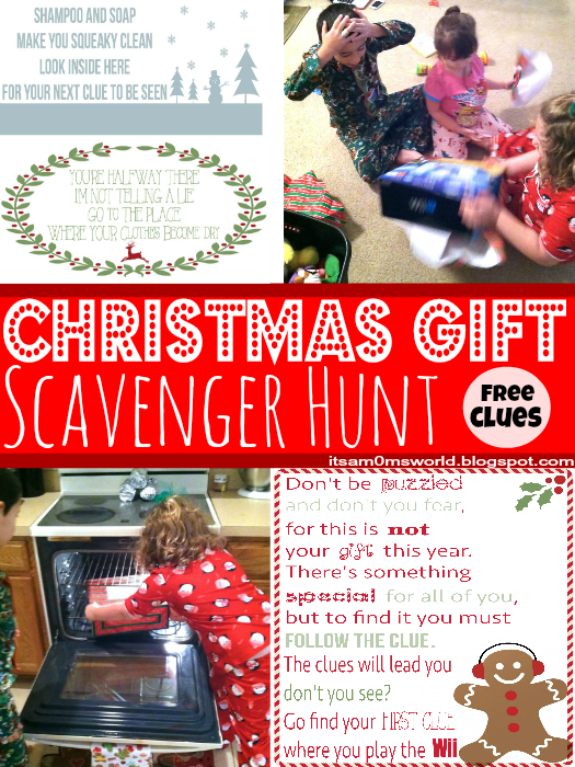 picture about Christmas Scavenger Hunt Printable Clues named Its A Mothers Planet: Xmas Present Scavenger Hunt