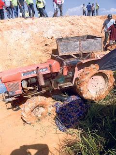 Remaja maut ditimpa traktor