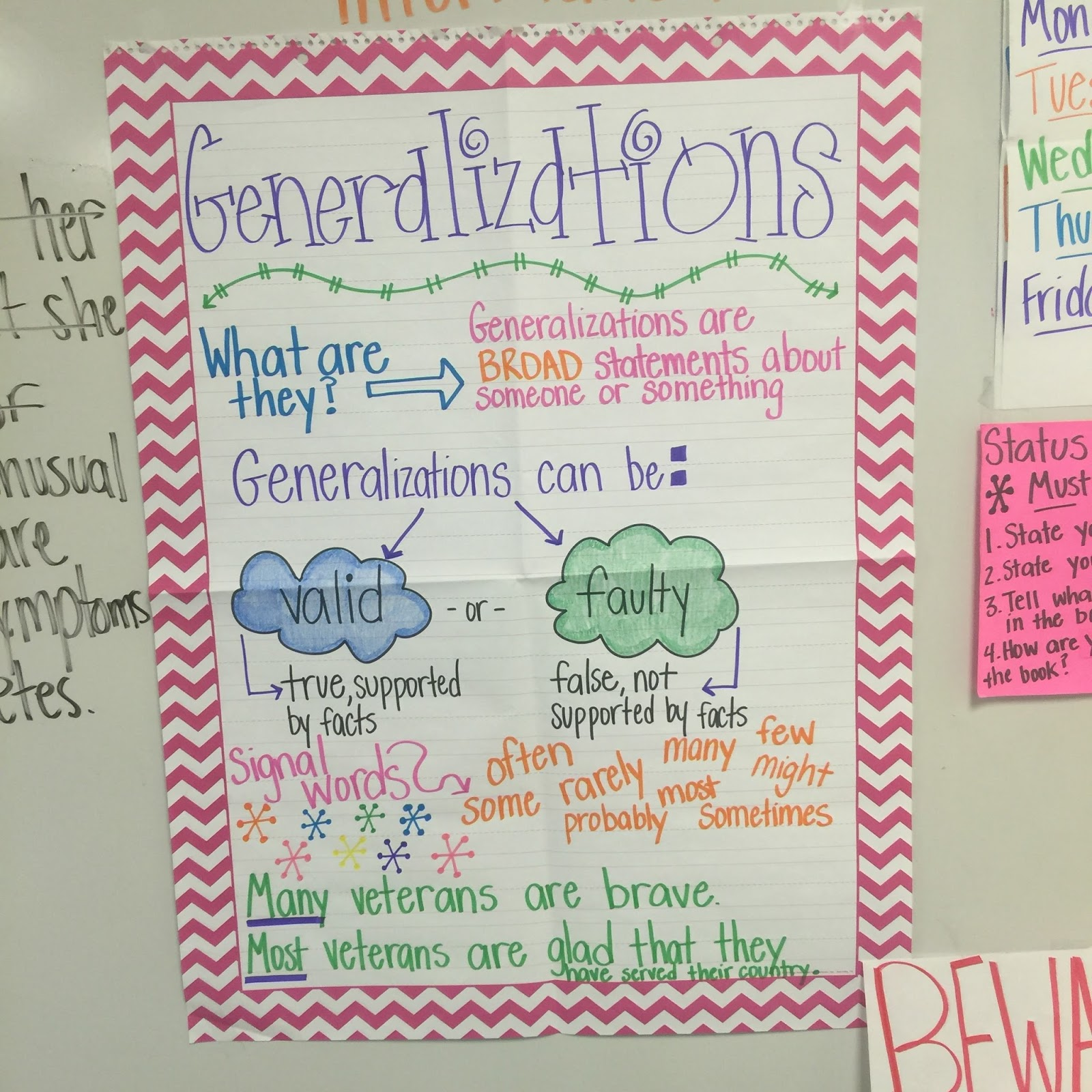 Teaching Generalizations | Life in Fifth Grade