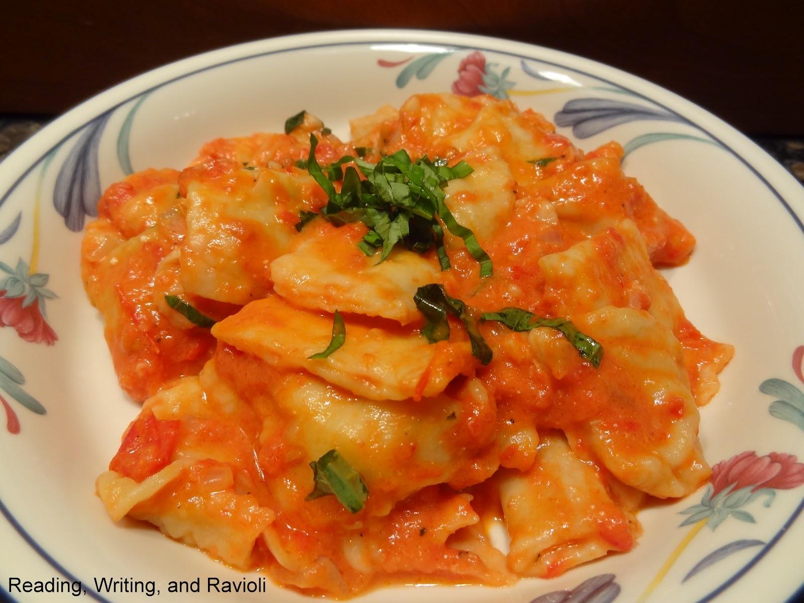 Reading, Writing, and Ravioli: Recipe: Lobster Ravioli in a Vodka Cream Sauce