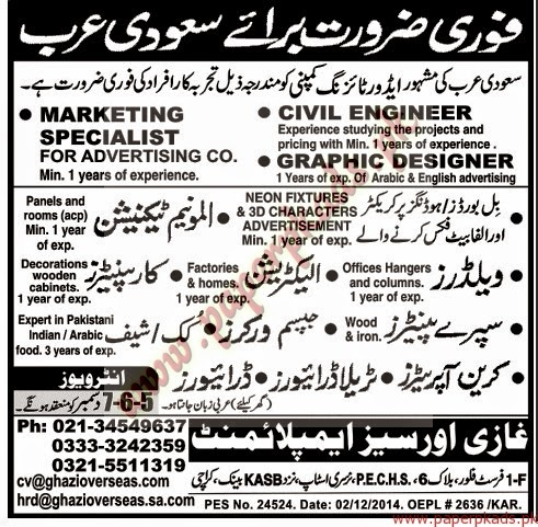 jobs in saudi arabia 2014 urgently required 03 december 2014 watch pakistani dramas online