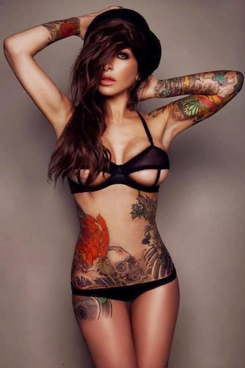 Sexy Hot girls with tattoos Collection 2