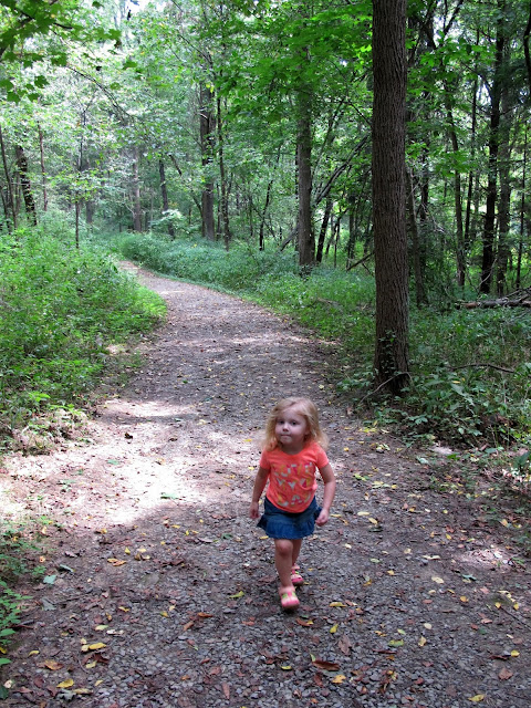 Stella Walking at The Wilderness Center