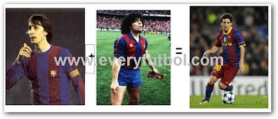 Messi es mezcla entre Cruiff y Maradona