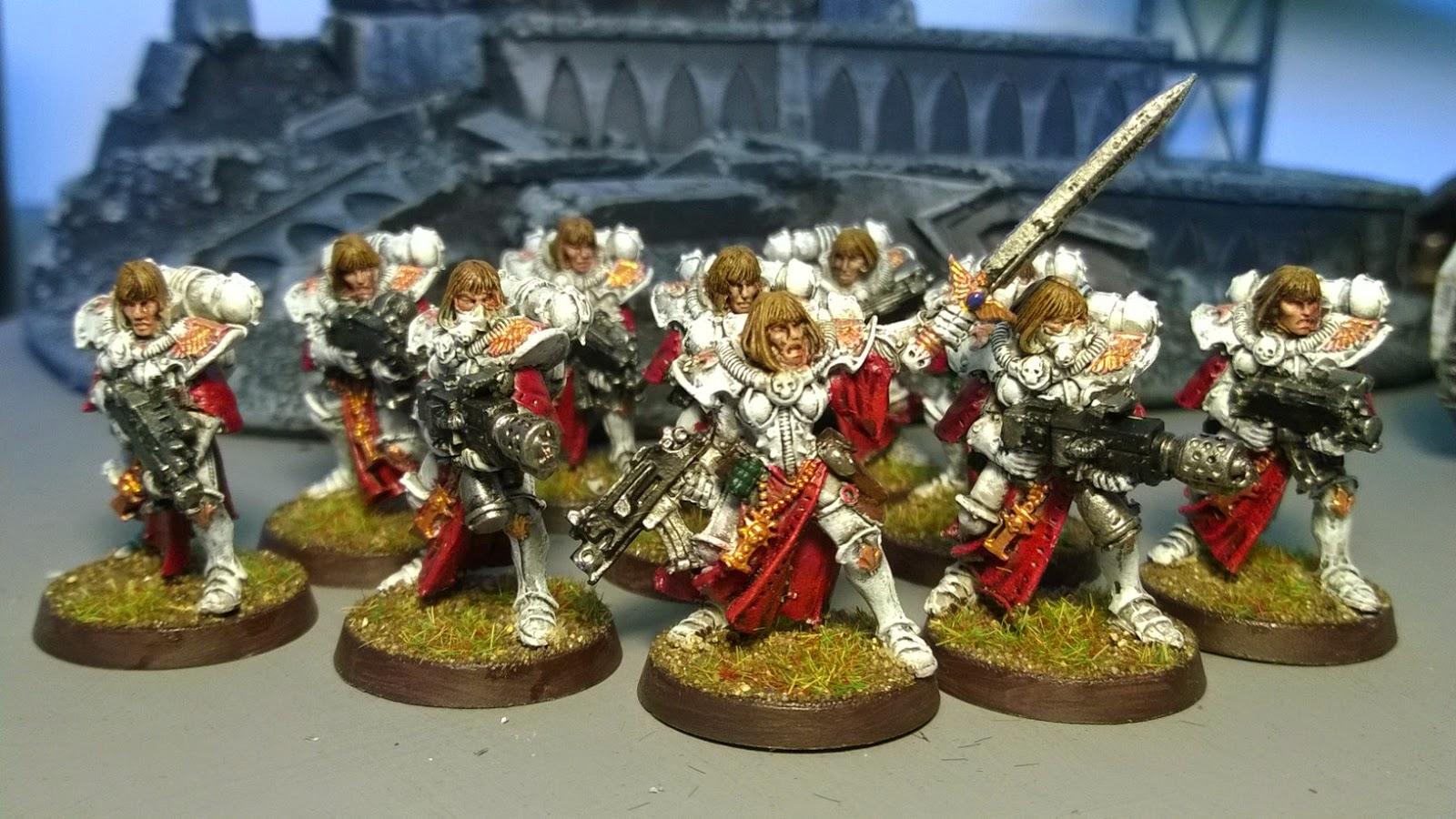 sisters of battle red white troop gw metal
