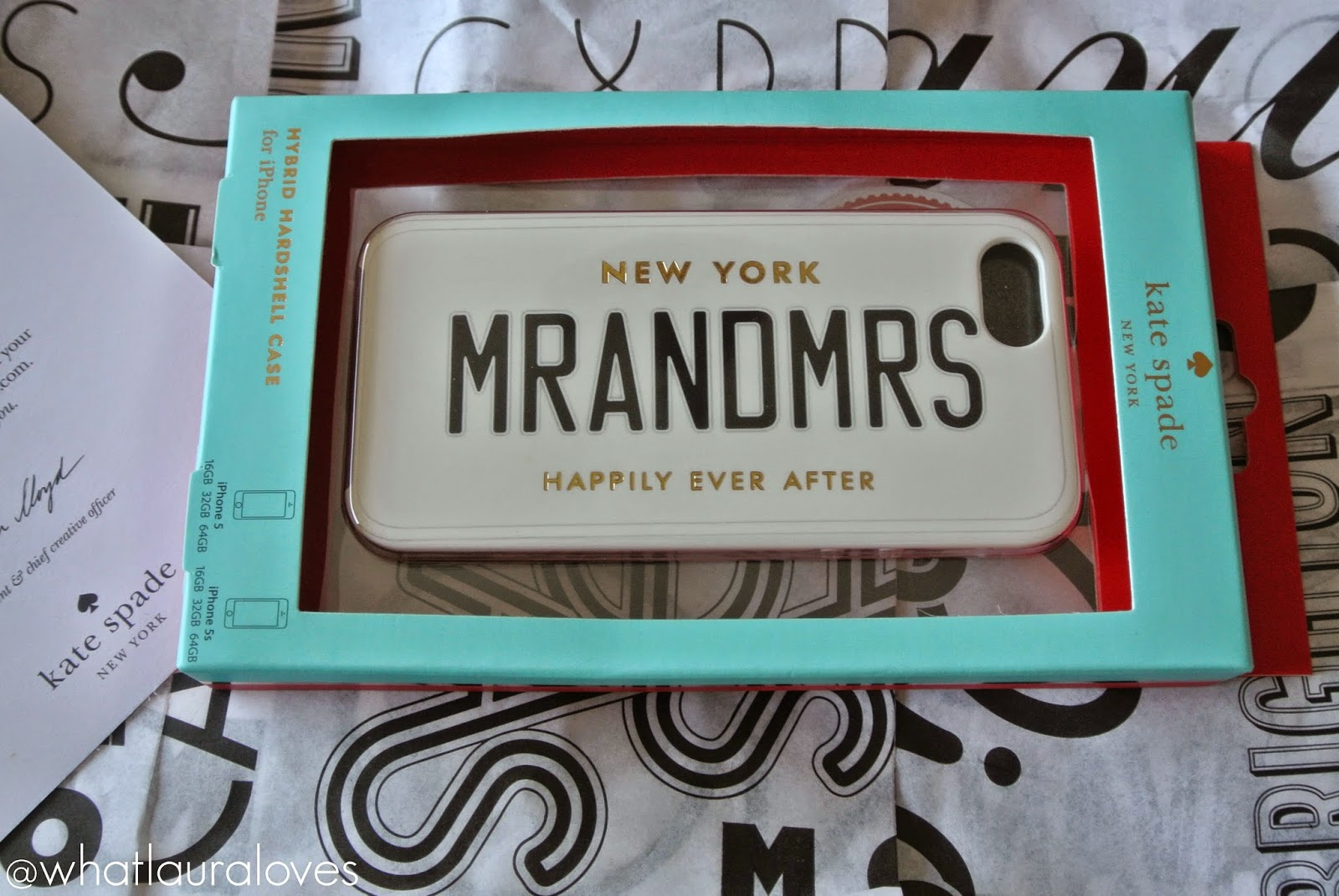 Kate Spade Happily Ever After Range MR AND MRS PHONE CASE
