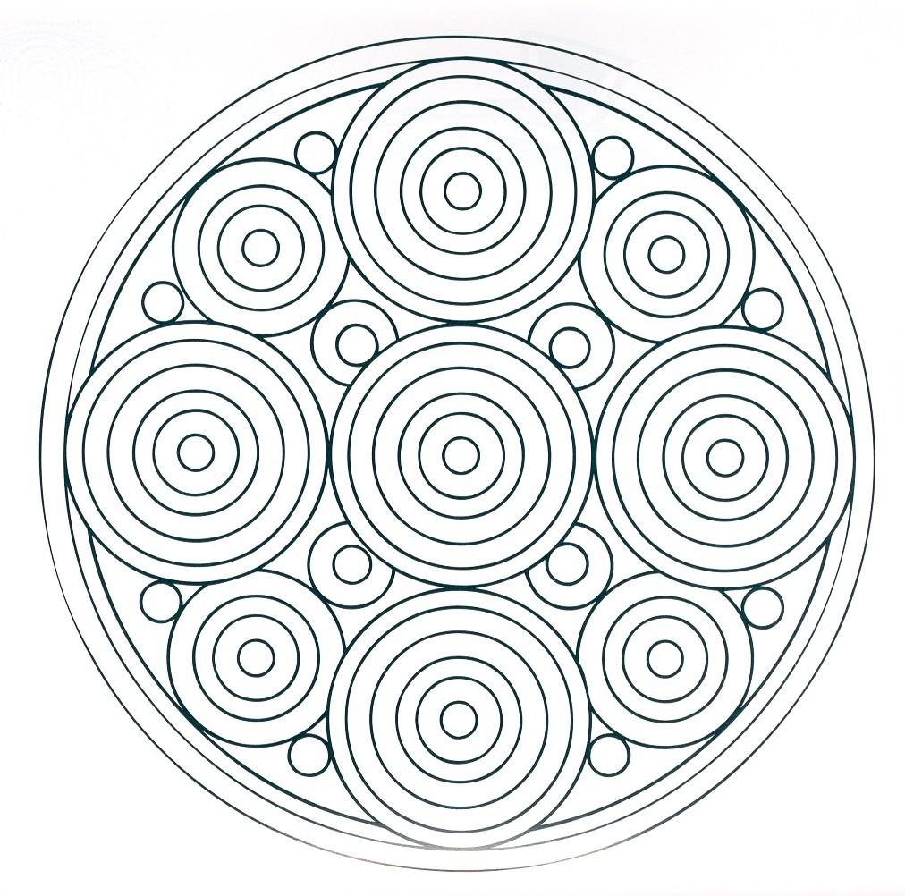 Mandalas Para Pintar: mandalas de circulos