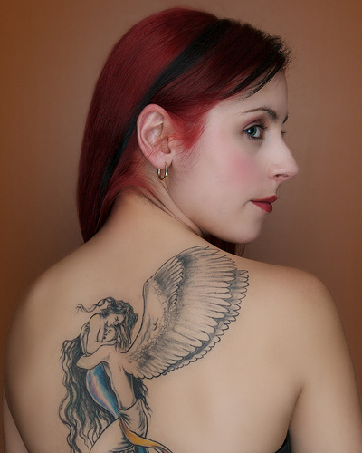 Angels Tattoos of Girl