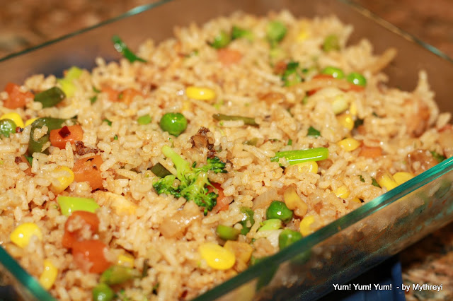 how to cook white rice with vegetables