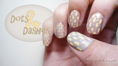 NOTD Dots and Dashes Gray Mustard