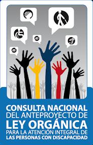 CONSULTA NACIONAL DEL ANTEPROYECTO DE L.O. PARA LA ATENCIÓN INTEGRAL DE PERSONAS CON DISCAPCIDAD...
