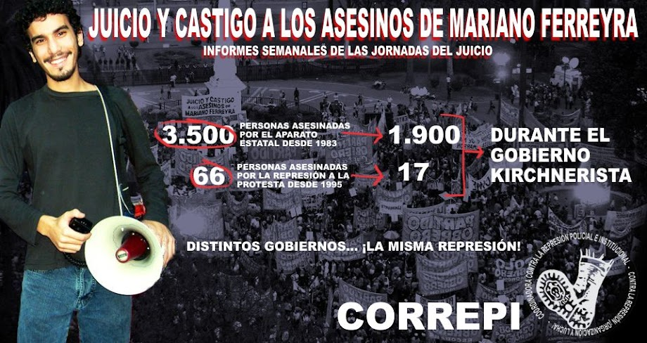 Juicio y castigo a los asesinos de Mariano Ferreyra