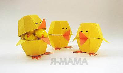 Поделка цыплята из яичного лотка своими руками