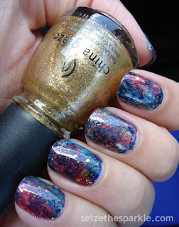 Gilded Galaxy Nails