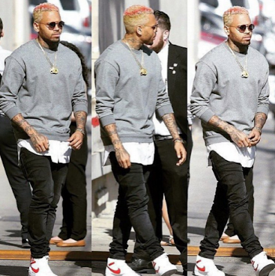 Swp Chris Brown Debuts New Hair Color