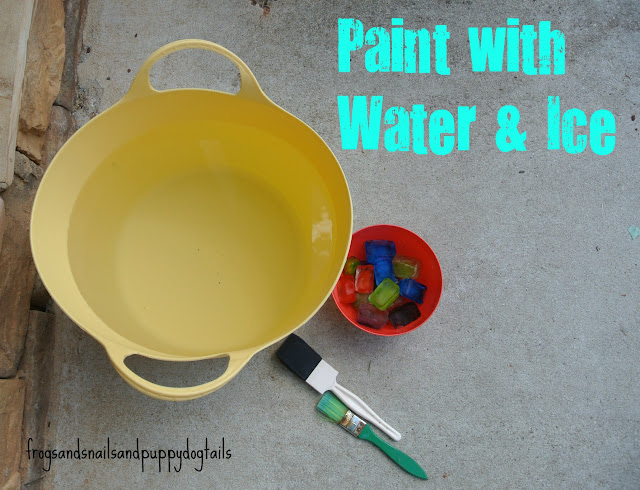 Paint with Water and Colored Ice