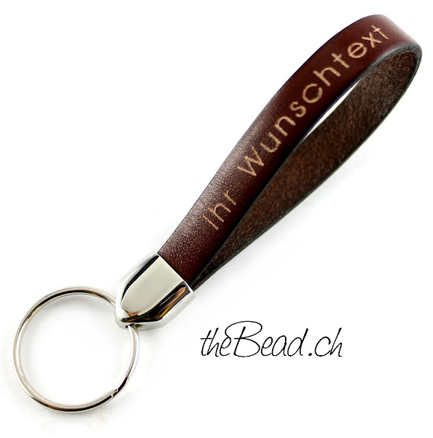 Schlüsselanhänger mit Wunschtext gravur