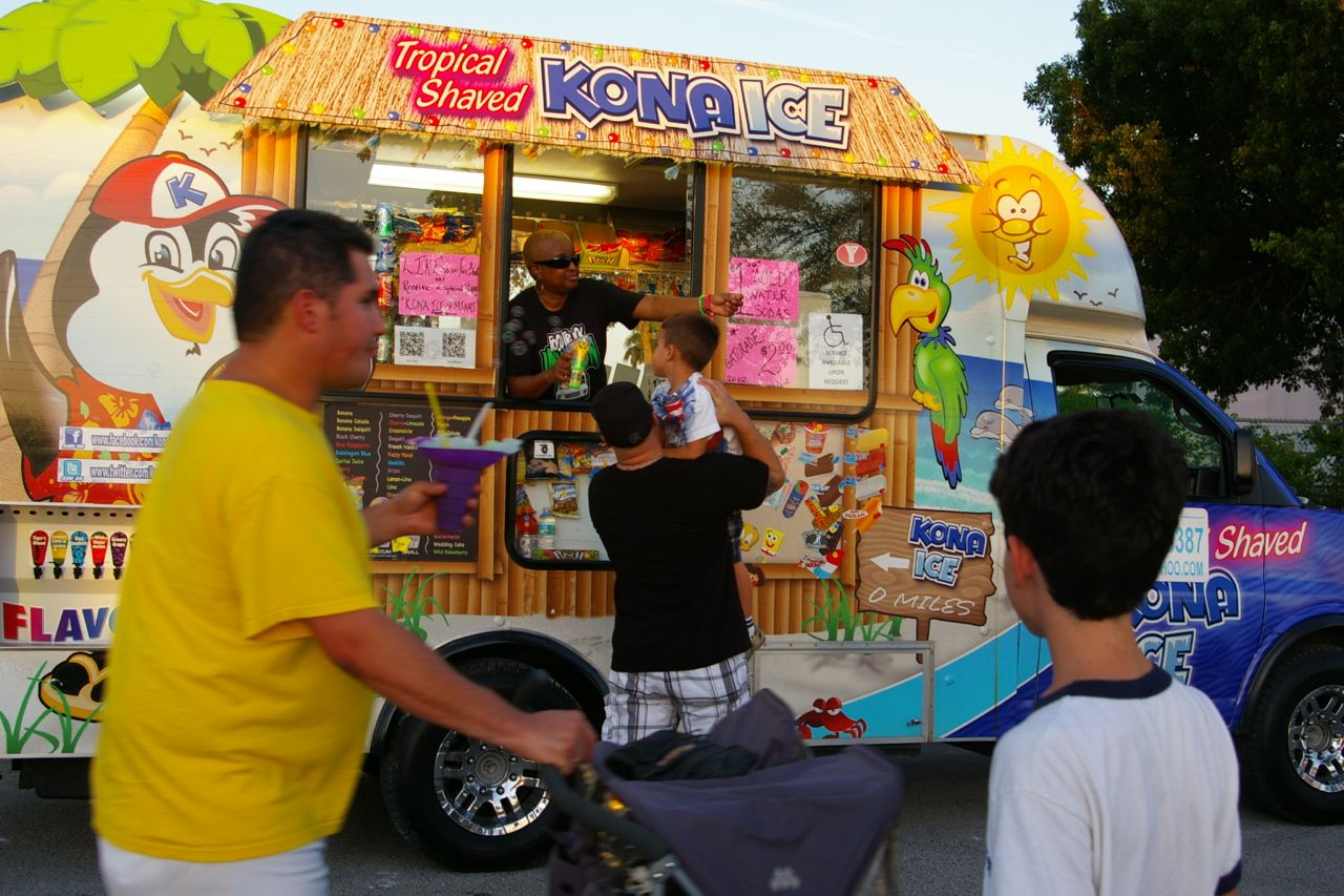 How can we make miami and its neighboring communities more conducive to the street life we find at the food truck gatherings