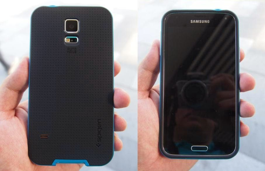 Spigen Neo Hybrid Samsung Galaxy S5 Case Review Back and Front