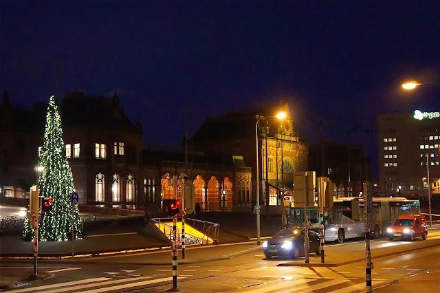 Groningen Centraal Station. Christmas 2013.