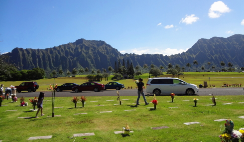 The surroundings at Hawaii State Veterans Cemetery