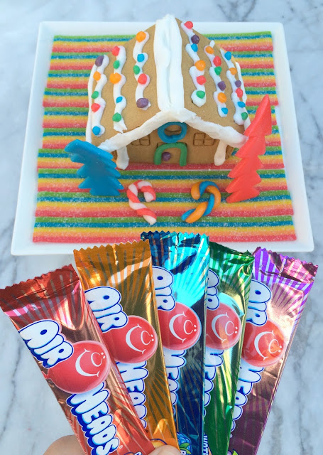 Gingerbread House decorating with Airheads Candy | www.jacolynmurphy.com